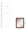 Elegant Arts and Frames Gold Wooden Cherry & Decorative Wall Mirror