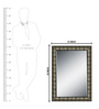Elegant Arts and Frames Grey Synthetic Antique Decorative Wall Mirror