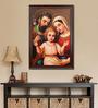 Elegant Arts and Frames Canvas 27.5 x 37.5 Inch Holy Family Framed Digital Art Print