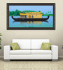 Elegant Arts and Frames Canvas 63.5 x 34 Inch House Boat Framed Art Print