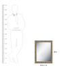 Elegant Arts and Frames Ivory Wooden Decorative Wall Mirror
