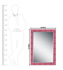 Elegant Arts and Frames Pink Wooden Decorative Wall Mirror