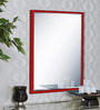 Nicolao Minimalist Mirrors in Red by CasaCraft