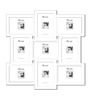 Felipa Collage Photo Frame in White by CasaCraft