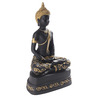 Earth Black & Gold Polyresin Buddha Statue