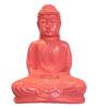Eleganze Decor Pink Resin Peaceful Buddha Showpiece
