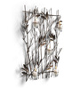 Eleganze Decor Silver Metal Bamboo Grove Wall Candle Holder