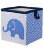 Elephants Blue & Grey Storage Box Small by Bacati
