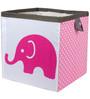 Elephants Pink & Grey Storage Box Small by Bacati