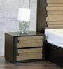 Elicia Bed Side Table in Tropicana Walnut and Belgian Oak Finish by CasaCraft