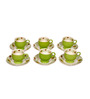 Elite Ceramic 200 ML Cups & Saucers Set- Set of 6