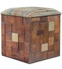 Ella Box Pouffe in Walnut Colour by InLiving