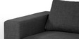 Emilio Superb L Shape Sofa in Dark Grey Colour by Furny