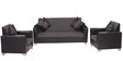 Empire Sofa Set (3 + 1 + 1) Seater in Black Colour by ARRA