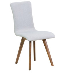 Emiliano Dining Chair (Set of 2) in Silver Grey Colour & Cocoa Legs by Casacraft