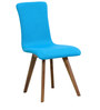 Emiliano Dining Chair (Set of 2) in Cerulean Blue Color by CasaCraft