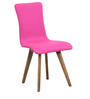 Emiliano Chair (Set of 2) in Magenta Pink Colour by CasaCraft