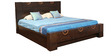 Enrique King Bed with Storage in Wenge Colour by HomeTown
