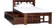Raliegh Single Bed with Storage in Provincial Teak Finish by Woodsworth