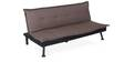 Enzo Sofa cum Bed in Brown Colour by @Home