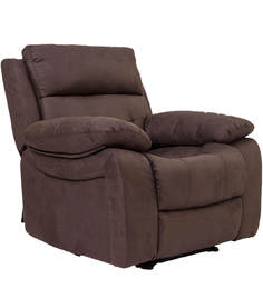 Eon Recliner One Seater Sofa in Dark Brown Colour by Evok