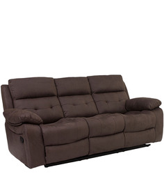 Eon Recliner Three Seater Sofa in Dark Brown Colour by Evok