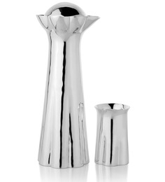 Episode Silver 92.5 Silver Plated Flower 500 ML Pitcher with Glass