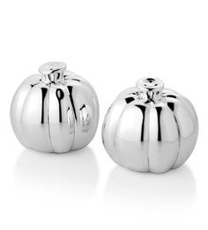Episode Silver Pumpkin Round Salt & Pepper Shaker - Set of 2