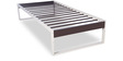 Eq Metallic Single Bed in Off White & Brown Finish by Godrej Interio