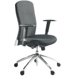 Equus Series D Mid Back Office Chair in Black colour by BlueBell Ergonomics