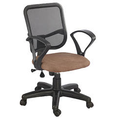 Ergonomic Chair in Black N Brown Colour by Aaron Systems