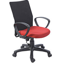 Ergonomic Chair in Black N Red Colour by Aaron Systems