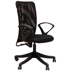 Ergonomic High Back Chair in Black Colour by Geeken