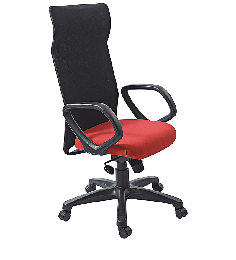 Executive Chair in Black N Red Colour by Aaron Systems