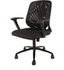 Ergonomic Xceed Medium Back Chair in Black Colour by FabChair