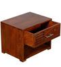 Eros Bedside Table in Honey Oak Finish by Woodsworth