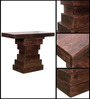 Eros Console Table in Provincial Teak Finish by Woodsworth
