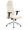 Eros High Back Executive Chair in White PU by Oblique