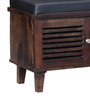 Escobar Two Door Shoe Rack with Seating in Provincial Teak Finish by Woodsworth