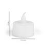Essence White Plastic Electric Tea Light Set of 12
