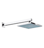 ESSESS by Asian Paints Silver Brass 8 Inch Square Rainfall Shower with 18 Inch Long Arm