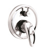 ESSESS by Asian Paints Silver Brass Single Lever Concealed Diverter for Bath & Shower System 3 Inlet