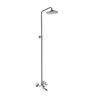 ESSESS by Asian Paints Silver Brass Single Lever Wall Mixer with Bend Exposed 8 Inch Over Head Shower