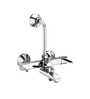 ESSESS by Asian Paints Silver Brass Wall Mixer 3-In-1 with Provision for Tele Shower & Over Head Shower with 190 mm Long Bend Pipe & Wall Flange