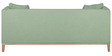 Eterno Three Seater Sofa in Pastel Green Colour by Madesos