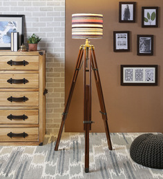 Ethnic Roots Multicolour Cotton Floor Lamp - 1566759
