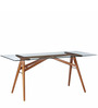 Ethan Six Seater Dining Table in Brown Colour by Asian Arts