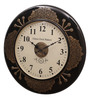 Ethnic Clock Makers Brown MDF & Metal 12 Inch Round Wall Clock