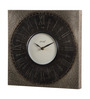 Ethnic Clock Makers Brown Metal & MDF 12 x 1.5 x 12 Inch White Dial Wall Clock