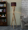 Ethnic Roots Black Cotton Floor Lamp